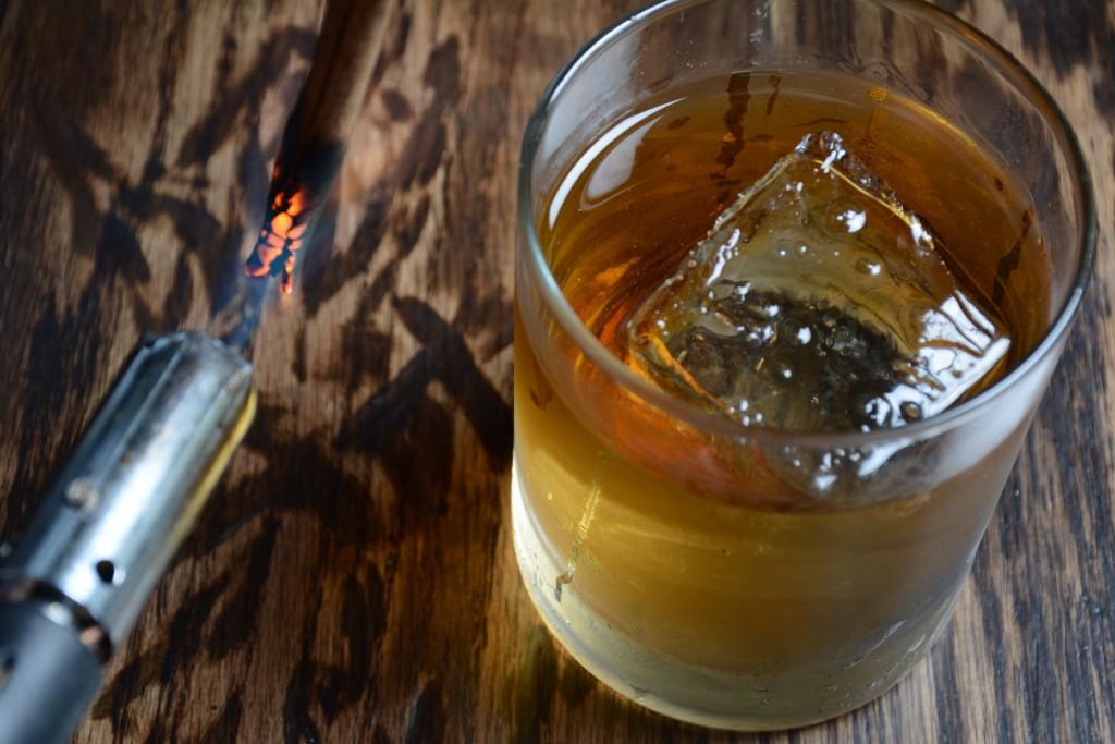 Lumberjack Liquor Cabinet