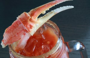 Effie Magazine photo: Venice Whaler Crab Shell Bloody Mary cocktail, EffieMagazine.com